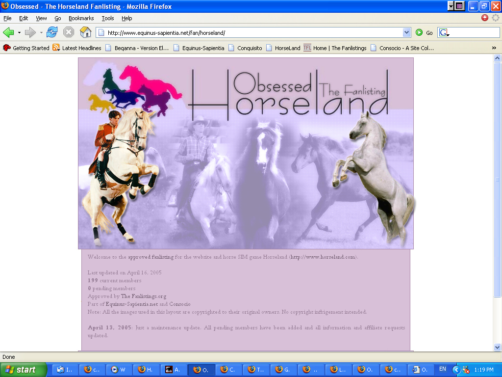 Obsessed: The Horseland Fanlisting